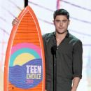 Zac Efron accepts the Choice Movie Actor award onstage during the 2012 Teen Choice Awards at Gibson Amphitheatre on July 22, 2012 in Universal City, California