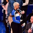 Amber Rose and Val Chmerkovksiy at The Knicks Game at Madison Square Garden in New York City - January 16, 2017  - December 9, 2016 - 454 x 514