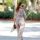 Chloe Goodman – Wears a zebra print jumpsuit out in Dubai - 454 x 574