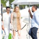 Sophie Turner in Mini Dress out for lunch in Cannes - 454 x 681