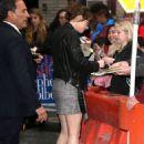 Dakota Johnson outside of Late Show with Stephen Colbert - 454 x 669