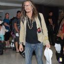 Steven Tyler is seen at LAX - 390 x 600