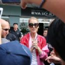 Celine Dion – Arrives at Taipei Songshan Airport in Taipei