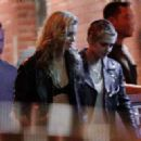 Kristen Stewart with Stella Maxwell – Seen outside a Bar in New York City - 454 x 323