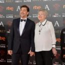 Javier Bardem and Pilar Bardem- Goya Cinema Awards 2016 - 400 x 600