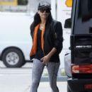Naya Rivera at a Gas Station in Los Angeles - 454 x 653