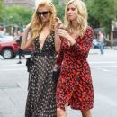 Paris and Nicky Hilton head to a book signing for Nicky's book '365 Style' in New York City, New York on September 9, 2014