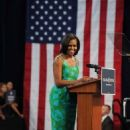 First lady Michelle Obama speaking to supporters and volunteers at the Barbara Goleman High School in Miami Lake, FL (July 10)
