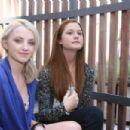 Bonnie Wright - With Evanna Lynch