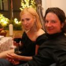Irina Grineva with her husband Maxim Shabalin on the Party
