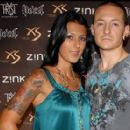 Chester Bennington and Talinda Bentley - 454 x 279