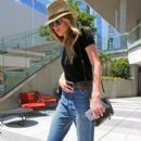 Amber Heard is seen stopping by an office in West Hollywood, California on June 16, 2015