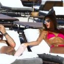 Ariadna Gutierrez in Pink Bikini on the beach in Miami - 454 x 227
