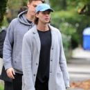 Patrick Schwarzenegger and his mother Maria Shriver are spotted out house hunting for Patrick in Hollywood, California on January 10, 2017 - 446 x 600