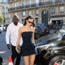 Kendall Jenner in Mini Dress – Out in Paris