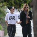 Kristen Stewart and Stella Maxwell out in Studio City