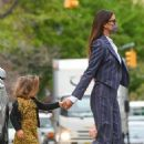 Irina Shayk – seen out with her daughter in Manhattan