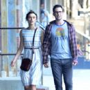 Adam Levine and actress Keira Knightley film 'Can A Song Save Your Life' in West Village, New York on June 29th, 2012