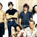 A 29-year-old Patrick pictured with his family at home in Houston in 1981. He's flanked by brothers Don and Sean Kyle, and his sister Vicky Lynn, who committed suicide in 1994. On the far right of his parents in the foreground is his adopted sister Bambi