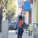 Vanessa Hudgens in Denim Jacket and Leggings – Out in Los Angeles