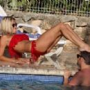 Jenny Frost spending a day - poolside in Ibiza, 08.01.2011 - 454 x 310