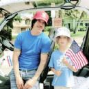 Anthony Kiedis and Everly Bear join the Point Dume parade in Malibu. July 4, 2014 - 454 x 295