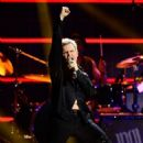 Recording artist Billy Idol performs onstage during the first ever iHeart80s Party at The Forum on February 20, 2016 in Inglewood, California.
