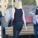 Charlize Theron in Black Tights – Out in Los Angeles