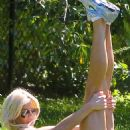 Victoria Silvstedt Workout In Central Park