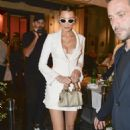Bella Hadid – Heads out for dinner in Rome