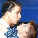 Debbie Reynolds and Leslie Nielsen
