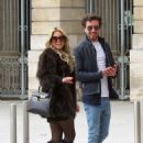 Sylvie Meis and her boyfriend out in Paris - 454 x 632