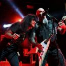 Joey Belladonna & Scott Ian of Anthrax perform during the Las Rageous music festival at the Downtown Las Vegas Events Center on April 21, 2017 in Las Vegas, Nevada - 454 x 342
