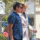 Nicole Kidman on a film set on her 51st Birthday in Santa Monica - 454 x 681