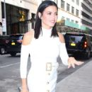 Jenna Dewan Tatum in White Dress out in New York City - 454 x 600