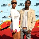 Kanye West and Amber Rose arrive at the 2009 BET Awards held at the Shrine Auditorium in Los Angeles, California - June 28, 2009 - 384 x 594