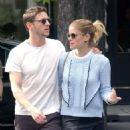 Kate Mara in Mini skirt with Jamie Bell out in Paris - 454 x 896