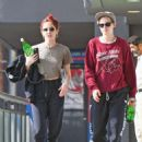 Kristen Stewart and Sara Dinkin – Leaving a gym in Hollywood