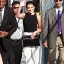 Lea Michele Arriving At Jimmy Kimmel Live In Hollywood
