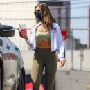 Eiza Gonzalez – In a olive leaggings seen leaving the gym after her workout in Los Angeles