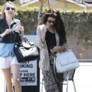 Selena Gomez stops for lunch at Kabuki with a friend on June 10, 2013 in Encino, California - 454 x 614