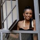 Katerina Graham: Greeting Fans from her Hotel in London