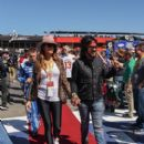 Nikki Sixx attends the Monster Energy NASCAR Cup Series race at Auto Club Speedway at Auto Club Speedway on March 17, 2019 in Fontana, California - 401 x 600