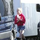 Lucy Boynton – On the set of 'The Politician' in Los Angeles