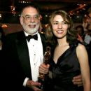 Francis Ford Coppola and her daugther Sofia Coppola At The 76th Annual Academy Awards -Press Room (2004)