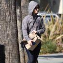 Isla Fisher in Leggings – Out in Studio City