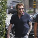 French Singer Johnny Hallyday and his wife, actress Laeticia Hallyday were seen taking their family out for a day dinner in West Hollywood, California on March 25, 2017. The Hallyday family went to Cecconi's, Urth Cafe, and Restoration Hardware