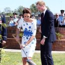 The Duchess of Cambridge plants a tree at a Memorial Garden at RAAF Amberley, near Brisbane, Australia, Saturday, 19th April 2014