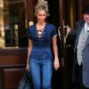 Leona Lewis – Leaving the Landmark Hotel in London - 454 x 692