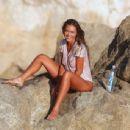 Charlie Riina gets her t-shirt wet and see through on the set of a 138 Water photoshoot in Malibu, CA on October 18th 2015 - 454 x 344
